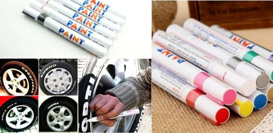 Colored markers for rubber and tires