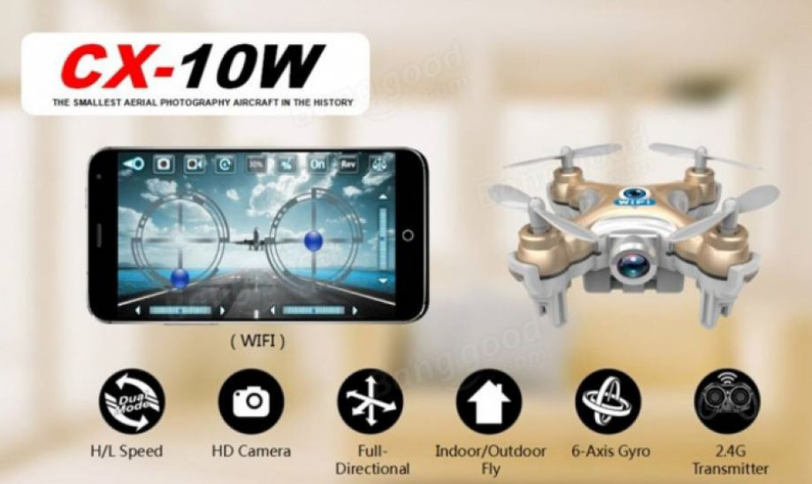 quadrocopter cheerson cx 10w from Aliexpress Store